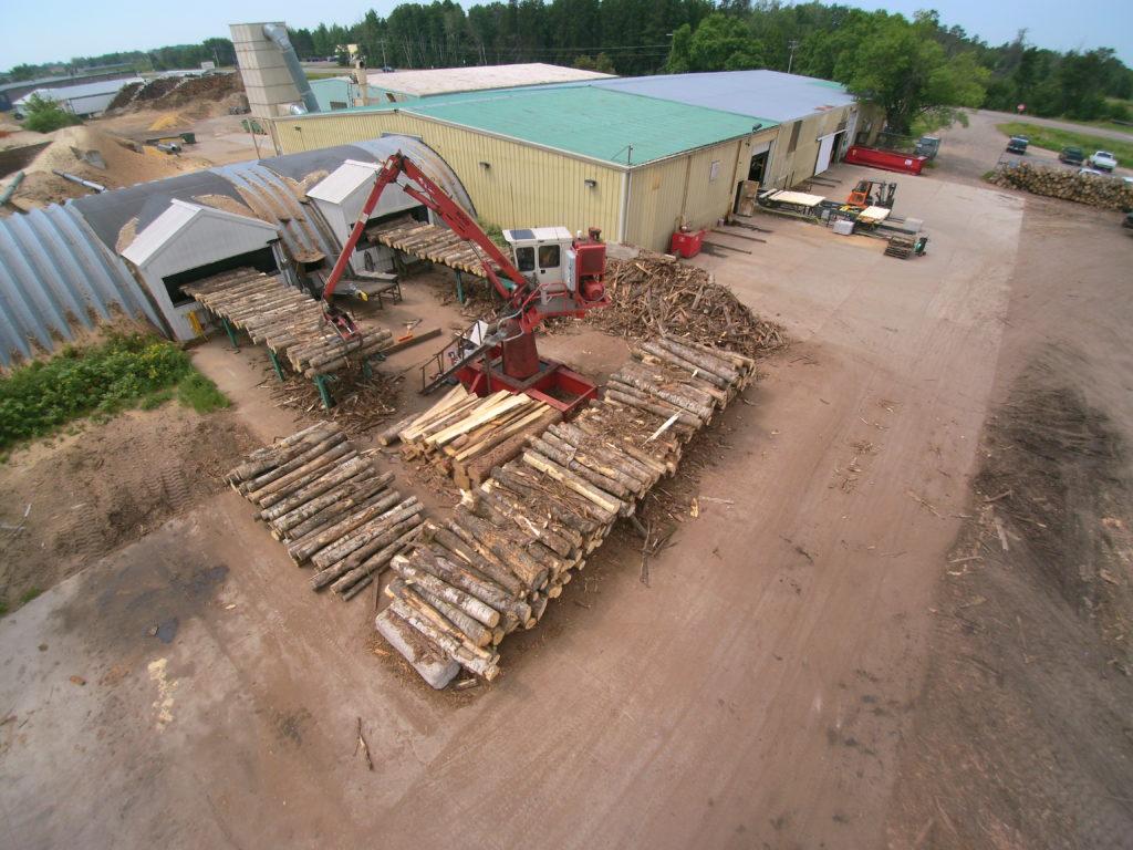 Aerial Photo of Savanna Pallets Wood Chipper